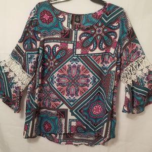 Beautiful New Directions Woman Boho blouse 3x